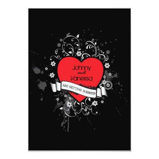 Rock & Roll Grungy Heart Music Themed Wedding