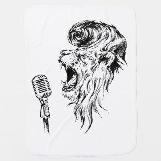 Rock&roll lion baby blanket