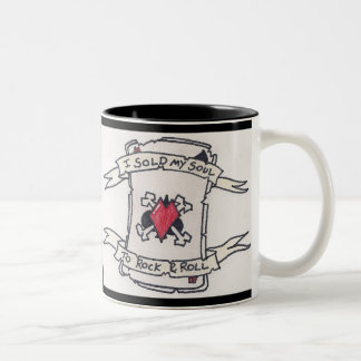 Rock & Roll Two-Tone Coffee Mug