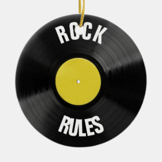 Rock Rules Christmas Ornament