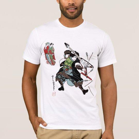 Rock Samurai Guitar T Shirt