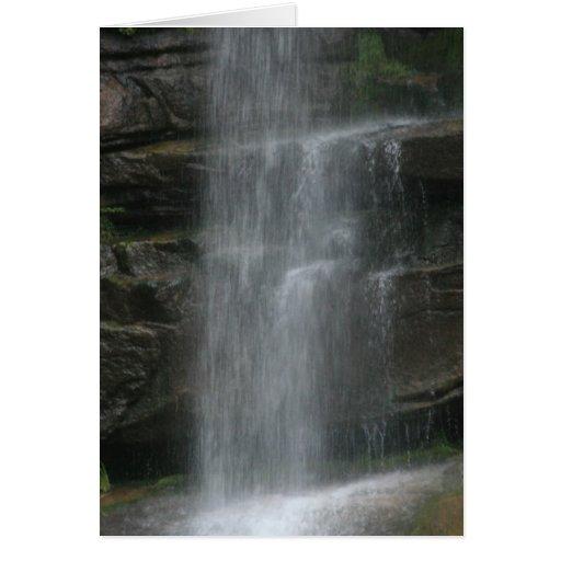 Rock Shelf Waterfall Greeting Card