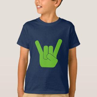 Rock Sign Green Logo T-Shirt