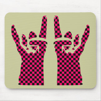 rock sign mouse pad