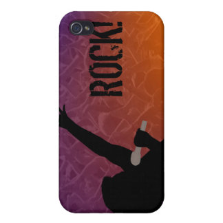Rock Singer's silhouette With a Crowd iPhone 4/4S Case