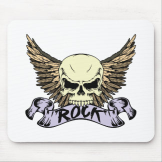 Rock Skull with Wings Mouse Pads
