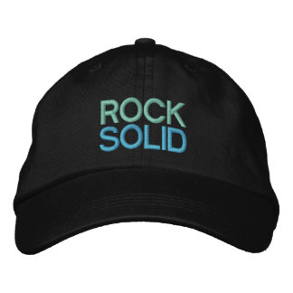 ROCK SOLID 1 cap Embroidered Hat