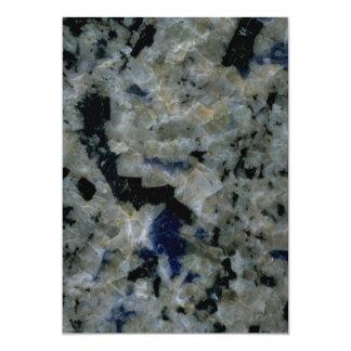 "Rock Solid Hexagonal shapes 5"" X 7"" Invitation Card"