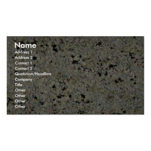 Rock Solid Speckled Business Cards