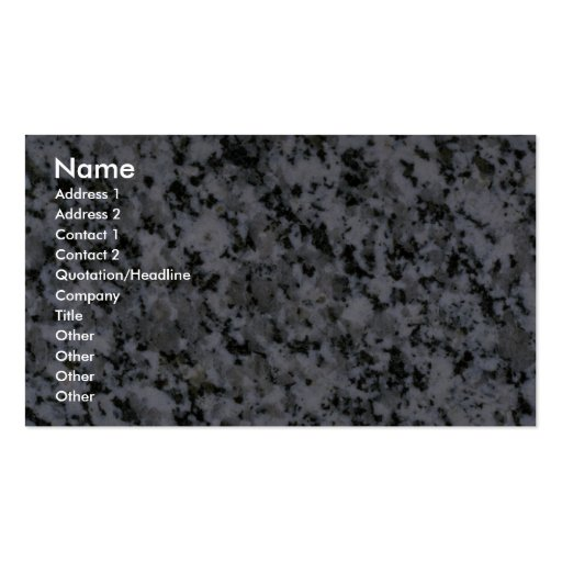 Rock Solid Speckled gray Business Card