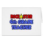 Rock Star 4th Grade Teacher Cards