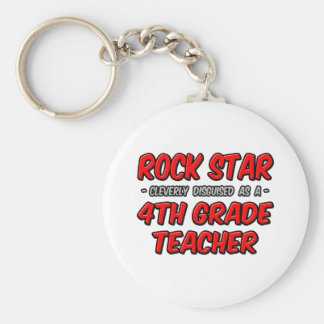 Rock Star...4th Grade Teacher Key Chain