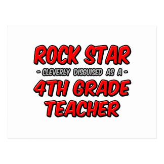 Rock Star...4th Grade Teacher Postcards