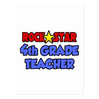 Rock Star 4th Grade Teacher Postcards