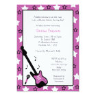 Rock Star Baby Shower Invite Purple 5x7