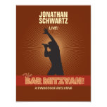 Rock Star Bar Mitzvah Reply Card 11 Cm X 14 Cm Invitation Card