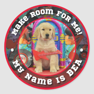 Rock Star Bea Classic Round Sticker