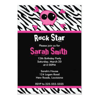 Rock Star Birthday 13 Cm X 18 Cm Invitation Card