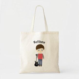 Rock Star Birthday Boy Budget Tote Bag