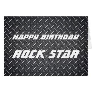 Rock Star Birthday Card