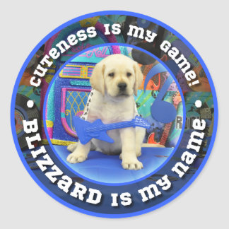 Rock Star Blizzard Classic Round Sticker