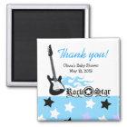 ROCK STAR Blue Baby Shower Favour Magnet