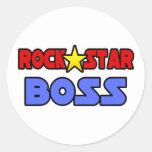Rock Star Boss Round Sticker