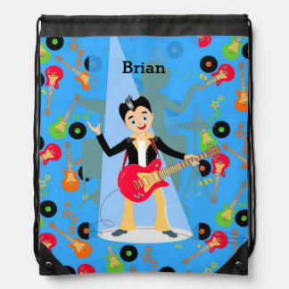 Rock Star Boy birthday party Backpacks