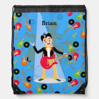 Rock Star Boy birthday party Backpacks