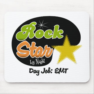 Rock Star By Night - Day Job EMT Mouse Pad