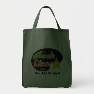 Rock Star By Night - Day Job FBI Agent Canvas Bag