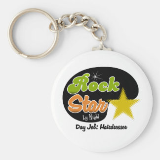 Rock Star By Night - Day Job Hairdresser Key Ring