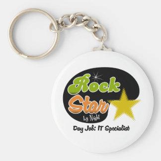 Rock Star By Night - Day Job IT Specialist Keychain