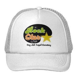Rock Star By Night - Day Job Legal Secretary Trucker Hats