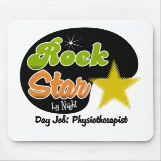 Rock Star By Night - Day Job Physiotherapist Mouse Mat