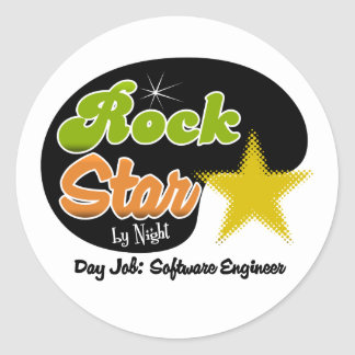 Rock Star By Night - Day Job Software Engineer Stickers