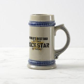 Rock Star by Night - World's Best Dad Beer Stein