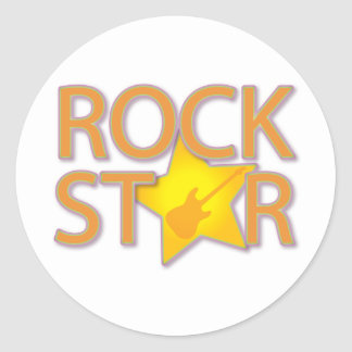 Rock Star Classic Round Sticker