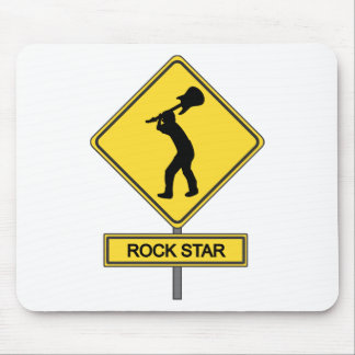 Rock Star Crossing -  For Guitarist & Musicians Mouse Pad