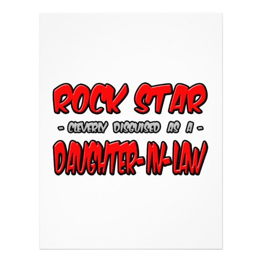 Rock Star...Daughter-In-Law Personalized Flyer