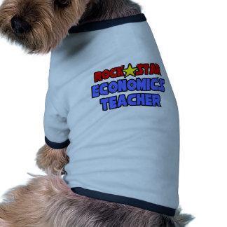 Rock Star Economics Teacher Pet Tee Shirt