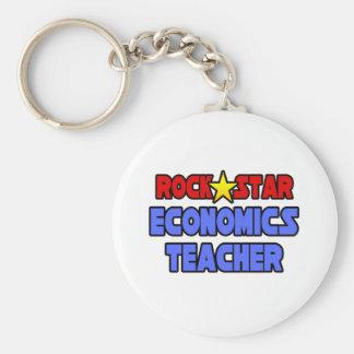 Rock Star Economics Teacher Keychains