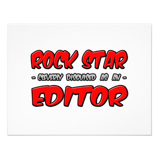 Rock Star...Editor Invites