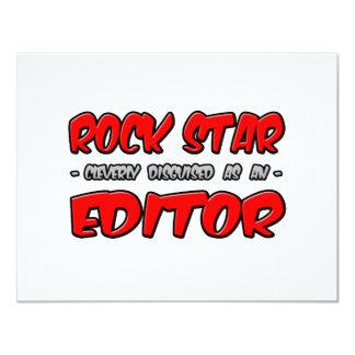 Rock Star...Editor 11 Cm X 14 Cm Invitation Card