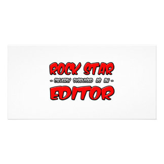 Rock Star Editor Personalized Photo Card