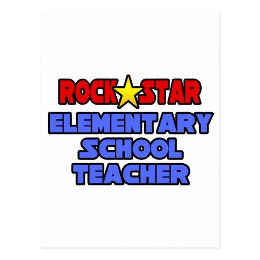 Rock Star Elementary School Teacher Post Card