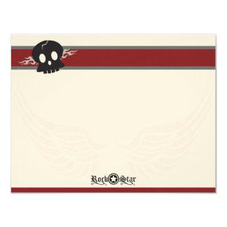 Rock Star Flat Note Cards (MTV) 11 Cm X 14 Cm Invitation Card