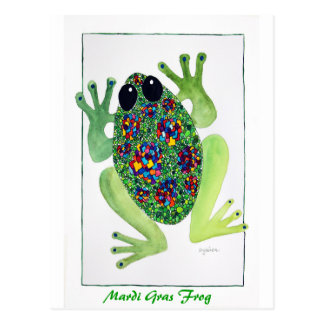 Rock Star Frog Postcard