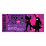 Rock Star Girl Band Birthday Purple Pink Custom Invitation