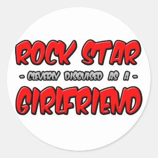 Rock Star...Girlfriend Round Sticker